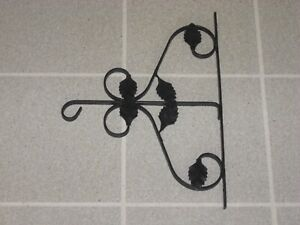Vintage 1960's Black Iron Wall Bracket featuring Numerous Leaves Very Rare