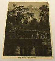 1887 magazine engraving ~ HANGING GARDENS OF BABYLON