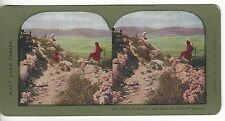 Ruins of Samaria City Gate, Plain of Samaria, Vintage Color Stereoview