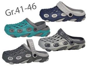 Herren Clogs Gr.41-46 NEU Hausschuhe Slipper Schlappen Schuhe Gartenschuhe @2749
