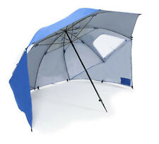 2.4M BEACH SHELTER CAMPING + FISHING BIVVY BROLLY with SIDE WINDOWS + PEGS