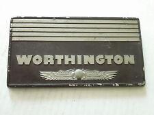 Vintage Worthington Emblem Ornament Sign Badge Trim