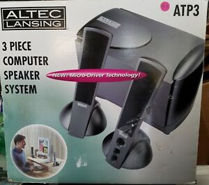 🔊🔊🔊 Altec Lansing ATP3 Multimedia System Speakers working with BOX 🔊🔊🔊