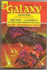 GALAXY October 1975. 25th anniversary. LARRY NIVEN, JOANNA RUSS, DAVID DRAKE