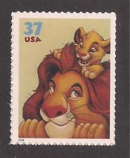 Disney - The Lion King - Mufasa & Simba - U.S. Postage Stamp - Mint Condition