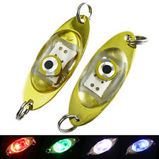 LED Flash Deep Drop Underwater Eye Shape Fishing Squid Fish Lure Light 5 Colors