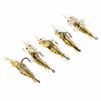 Hot 5 Pcs Lures Bait Shrimp Fishing Simulation Prawn Saltwater Hooks Fish