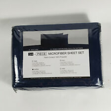 Queen Sized 4-Piece Microfiber Sheet Set - Navy Blue - Brand New - Reduced!