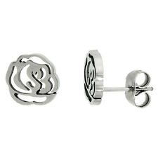 Stainless Steel Tiny Cut Out Flower Stud Earrings
