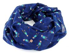 ESPRIT Châle Printed Infinity Scarf Navy
