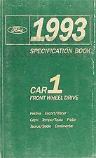 1993 Ford Service Specifications Book Ranger Explorer Aerostar Villager