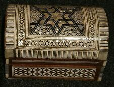 Egyptian Handmade Jewellery Box Mother of Pearl Style Accessories Wooden Design
