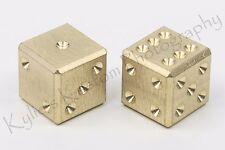 BRASS CNC precision machined D6 casino game metal dice