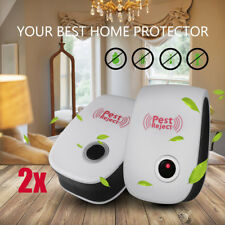 2 Ultrasonic Electronic Anti Mosquito Pest Mice Insect Cockroach Repeller Reject