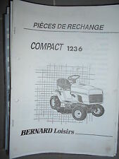 BERNARD tracteur Compact 1236 : Catalogue pièces