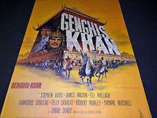 GENGHIS KHAN  affiche cinema 1965 mascii