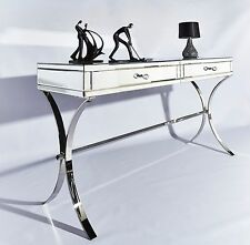 Barcelona Large Dressing Console Hall Table Mirror Desk and Chrome Chic Style