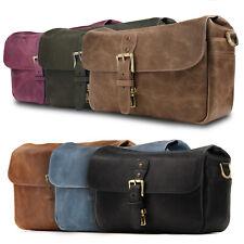 MegaGear Torres Genuine Leather Messenger Bag for DSLR & SLR and Instant Cameras