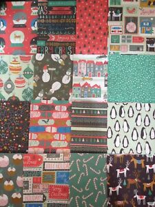 "8"" x 8"" 16 Sheet Taster Pack JOLLY HOLIDAYS Christmas Card Making Craft Paper"