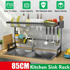 Dish Drying Rack Over The Sink Stainless Steel Kitchen Cutlery Holder Shelf