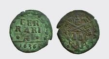 FERRARA - URBANO VIII 1623-1644 -AE/ QUATTRINO 1636  MOLTO RARA!