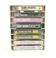 Kenny Rogers Tape Cassette Lot Of 8 & N Stac Storage