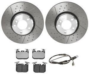 Brembo Front Brake Kit Composite Disc Rotors Low-Met Pads Sensor For BMW F22 F36