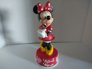 """Vintage NOS Disney parks Minnie Mouse Coin bank 12"""" with tags unused old stock."""