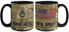 US Army Personalized Mug - SFC (E7) US Army Gift for Dad/Mom/Son/Daughter