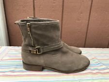 EUC Steve Madden Trickie Taupe Suede  Zip Ankle Boot US 10M $119