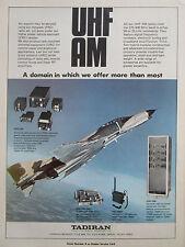 4/80 PUB TADIRAN MANPACK RADIO UHF AM ARC-240 F-4 PHANTOM PRC-660T ORIGINAL AD
