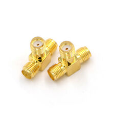 1pcs SMA jack female to 2 SMA female T RF Splitter connector triple 1F2F Pop
