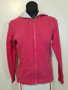 The North Face Full Zip Hoodie Women Size Small Petite Sherpa Lined Pink EUC
