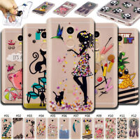 For Xiaomi ASUS Rubber Skin Cover Soft IMD TPU Back Silicone Painted Clear Case