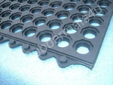 INTERLOCKING Rubber Safety Mat Holes Bar Garage Shed Tack Room