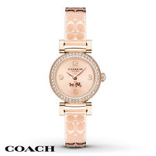 NWT Coach WOMEN'S SIGNATURE ETCHED Rose Gold Tone BANGLE WATCH 24mm 14502203
