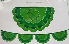 St. Patrick's Day Shamrock Flag Bunting Banner 11' Plastic