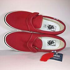VANS Slip On 47 V DX Anaheim Factory OG Red White Sneakers VN0A3MVAR3V Size 13