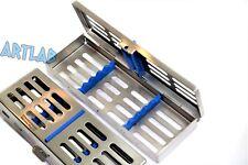 GERMAN STAINLESS 5 SLOT DENTAL AUTOCLAVE STERILIZATION CASSETTE TRAY BOX RACK
