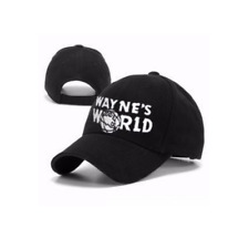 Wayne's World Baseball Cap Black Embroidered Hat New Party Movie Costume Cosplay