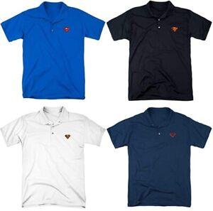 Superman Official Polo Golf Mens Sport Shirt 4 Pack (S-3XL)
