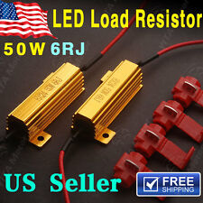 2 PCS 50W 6ohm Load Resistors For Hyper Flash Turn Signal Blink Blinker LED Bulb