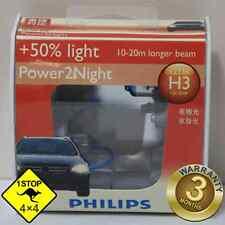 A Pair of Genuine Philips H3 12V 55W +50% Light Power2Night Bulbs