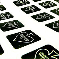 A019 Magic Black Bicycle Playing Card Case Box Deck Seal Sticker 56 On 1 Sheet