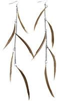 F1603 fashion long Feather chain cute dangle chandelier earrings jewelry