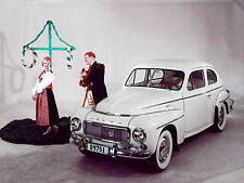 1955 Volvo PV444  with Swedish Costume Theme  press photo  8 x 10 photograph