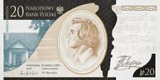 Banknot 20 zł Fryderyk Chopin 2010