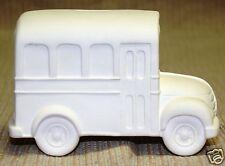 Ceramic Bisque School Bus Bank Scioto Mold 3381 U-Paint Ready To Paint