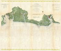 1866 Coastal Survey map Chart South Carolina Charleston to St. Helena Bay