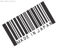 MADE IN JAPAN Car Sticker Decal Vinyl For JDM Turbo Drift Race Stance Lowered